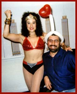 Send a comedy singing telegram for a surprise birthday entertainment.  This is a Wonder Woman singing telegram in NYC.